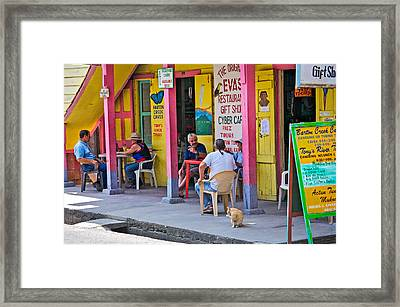 Happy Hour In Belize Framed Print