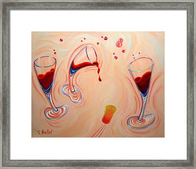 Framed Print featuring the painting Happy Hour by Sandi Whetzel