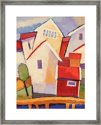 Happy Houses Framed Print by Lutz Baar