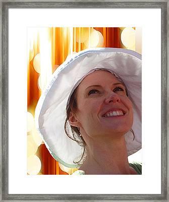 Happy In The Light Framed Print by Ellen Henneke