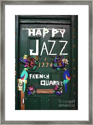 Happy Jazz Framed Print by John Rizzuto