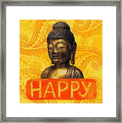 Happy Framed Print by Jennifer Mazzucco
