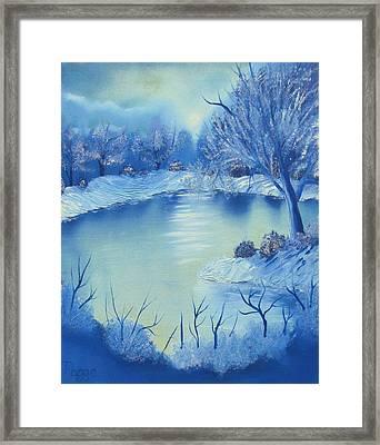 Happy Little Winterscape Framed Print by Ben Pogge