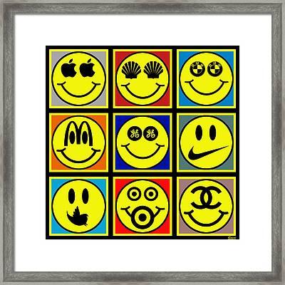 Happy Logos Framed Print by Tony Rubino