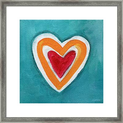 Happy Love Framed Print by Linda Woods