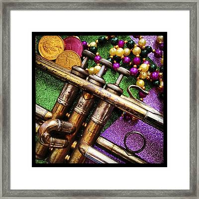 Happy Mardi Gras Framed Print