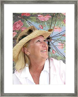 Happy Mature Woman Framed Print by Maria Dryfhout