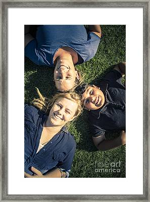 Happy Modern Family Enjoying The Fun In Spring Framed Print by Jorgo Photography - Wall Art Gallery