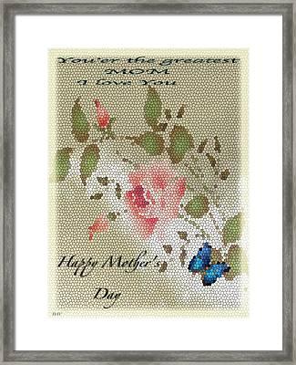 Happy Mothers Day Card Framed Print by Debra     Vatalaro