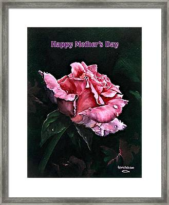 Framed Print featuring the painting Happy Mother's Day by Lynne Wright