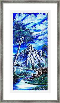 Happy Mountain  Framed Print by Shirwan Ahmed