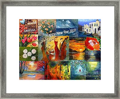 Happy New Year 2013 Framed Print