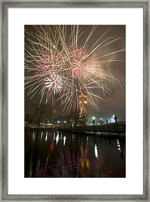 Happy New Year 2014 A Framed Print