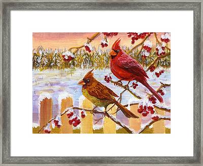 Framed Print featuring the painting Happy New Year 2014 by Ping Yan