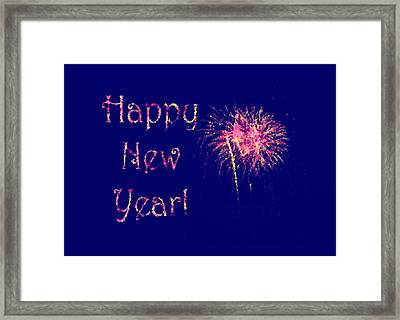 Happy New Year Fireworks Framed Print by Marianne Campolongo