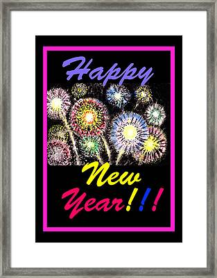 Happy New Year Framed Print by Irina Sztukowski