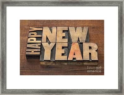 Happy New Year Framed Print by Marek Uliasz
