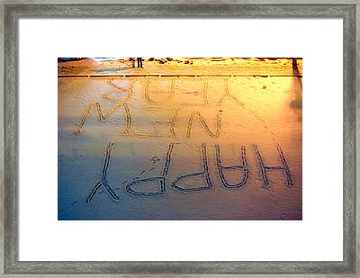 Happy New Years Perps Framed Print by Paul Wash
