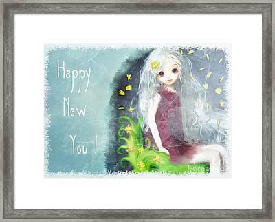 Framed Print featuring the digital art Happy New You by Barbara Orenya