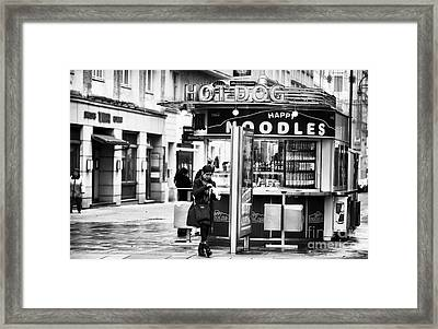 Happy Noodles Framed Print by John Rizzuto