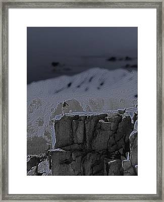 Happy On The Edge Framed Print by Jeremy Rhoades