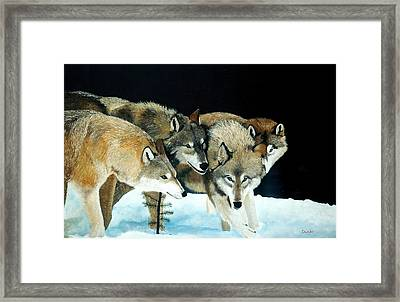 Happy Pack Framed Print
