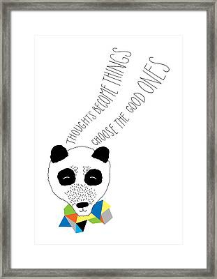 Happy Panda Variant 1 Framed Print by Susan Claire