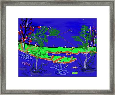 Happy Peninsula Digital Painting Framed Print by Colette Dumont