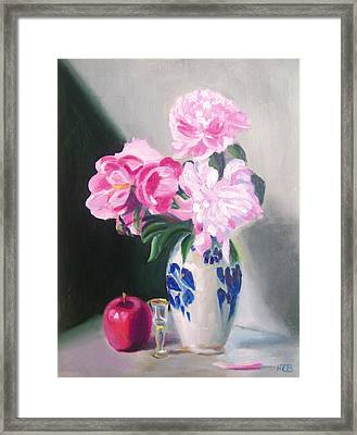 Happy Peonies Framed Print