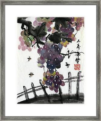 Longgevity And Prospevity Framed Print by Ping Yan
