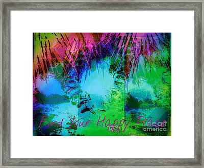 Happy Place 1 Framed Print by Michelle Stradford