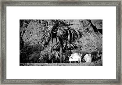 Happy Place At San Onofre Framed Print