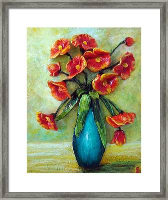 Happy Poppies Framed Print