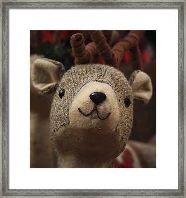 Framed Print featuring the photograph Happy Reindeer by Patrice Zinck