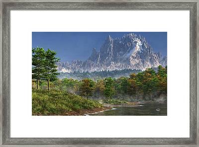 Happy River Valley Framed Print by Daniel Eskridge