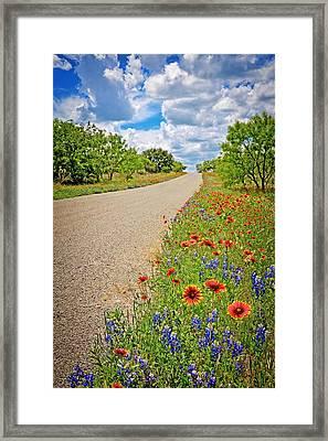 Happy Road Framed Print