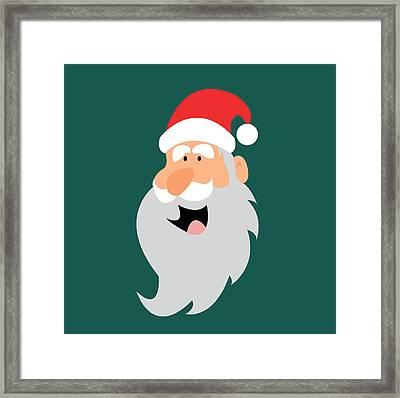 Happy Santa Framed Print by Kenneth Feliciano