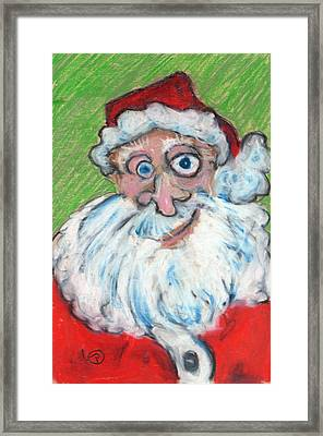 happy Santa Framed Print