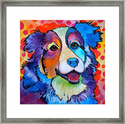 Happy Scout Framed Print by Debi Starr
