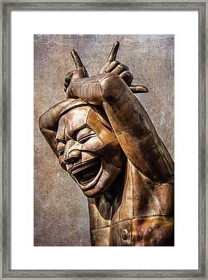 Happy Sculpture Framed Print
