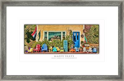 Happy Seats Framed Print