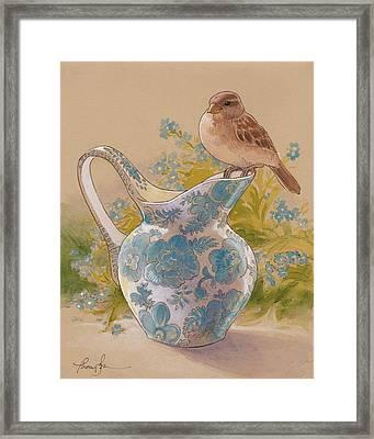Happy Sparrow 6 Framed Print by Tracie Thompson