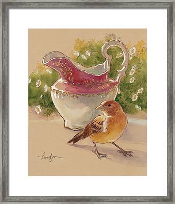 Happy Sparrow 7 Framed Print