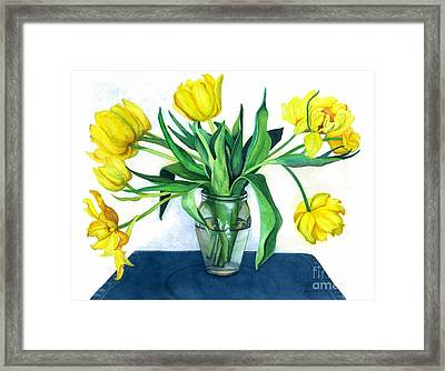 Happy Spring Framed Print by Barbara Jewell