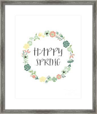 Happy Spring  Framed Print