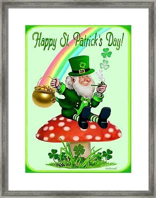 Happy St. Patrick's Day Framed Print