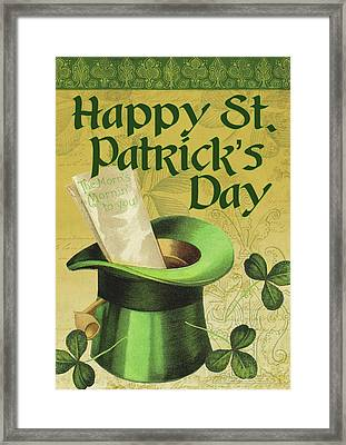 Happy St. Patrick's Day Framed Print by Tammy Apple