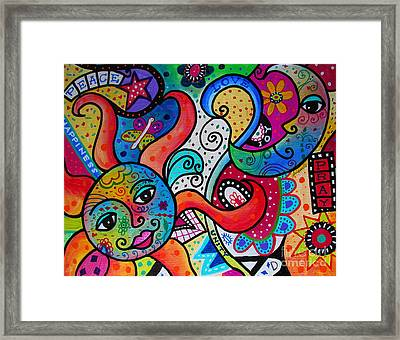 Happy Sun And Moon Framed Print