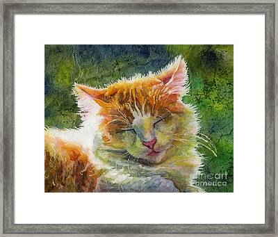 Happy Sunbathing 2 Framed Print by Hailey E Herrera