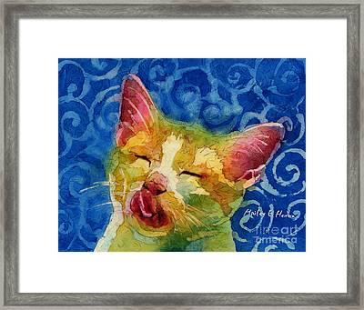 Happy Sunbathing Framed Print by Hailey E Herrera